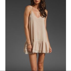 One Teaspoon Pinkie Dress Tunic V Ruffle Sheer